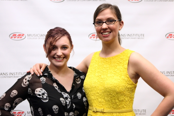 Ashleigh Teich (l.) and Andrea Calderwood (Vocal Program Chair)