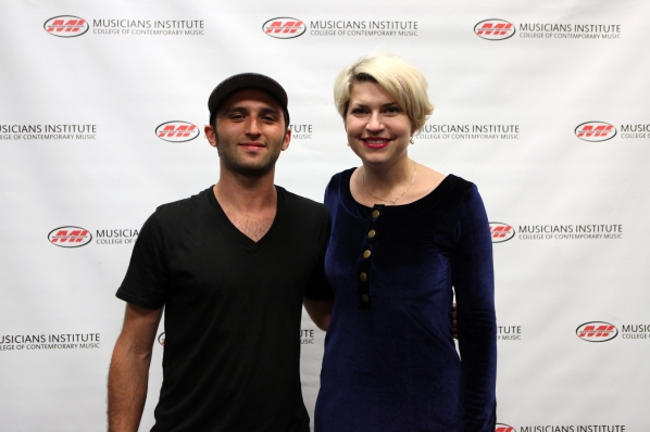 Jesse Clayton with Lisa Harriton (Keyboard Program Chair)