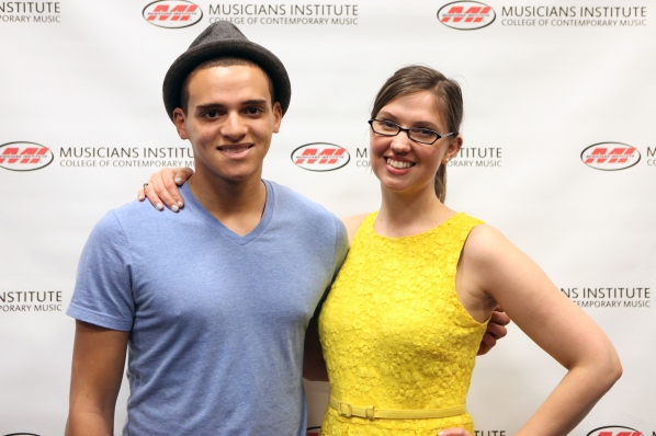 Jonathan Pennington with Andrea Calderwood (Vocal PRogram Chair)