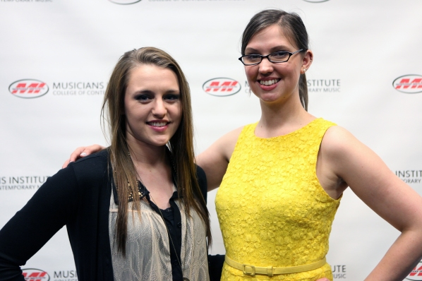 Kalynne Schoelen (l.) with Andrea Calderwood (Vocal Program Chair)