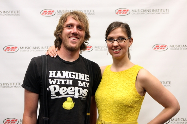 Pierce Humke with Andrea Calderwood (Vocal Program Chair)