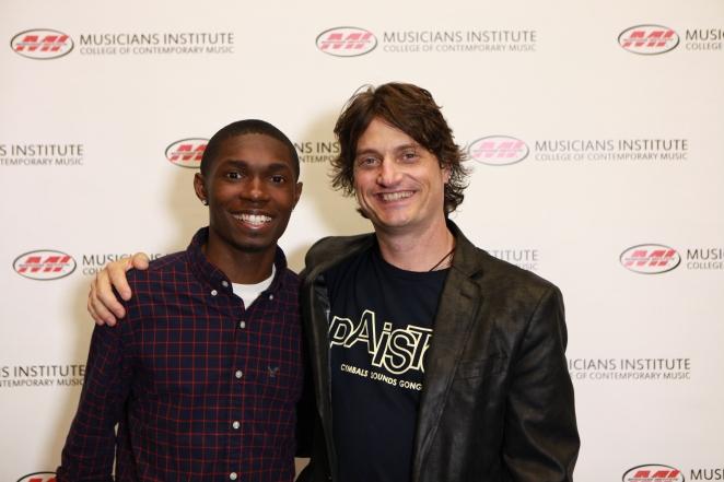 Arthur Johnson with Stewart Jean (Drum Program Chair)