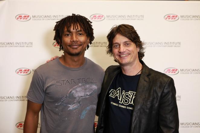 Christian Kongawi with Stewart Jean (Drum Program chair)