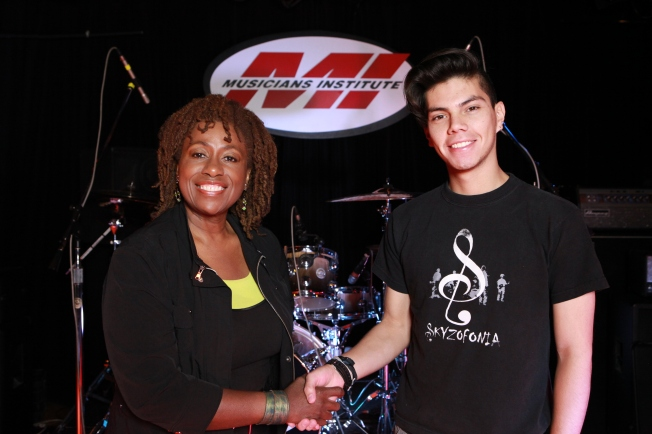 Debra Byrd (Vocal Program Chair) with Juan P. Acosta