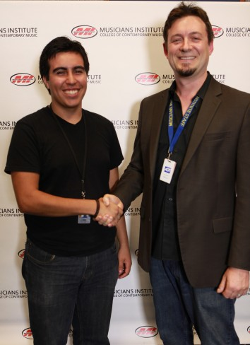 Marcelo Rossil and Jon Clayden (VP of Academic Affairs)