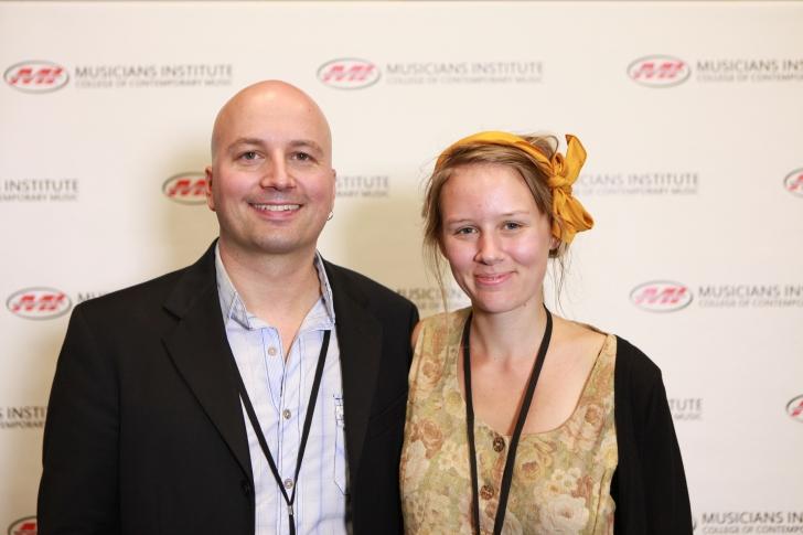 Stig Mathisen (Guitar Program Chair) with Mathilda Fritzell