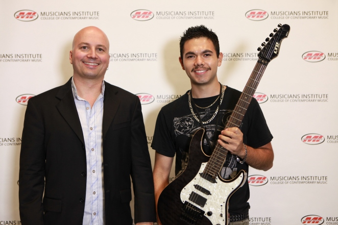 Stig Mathisen (Guitar Program Chair) with Nate Dominguez