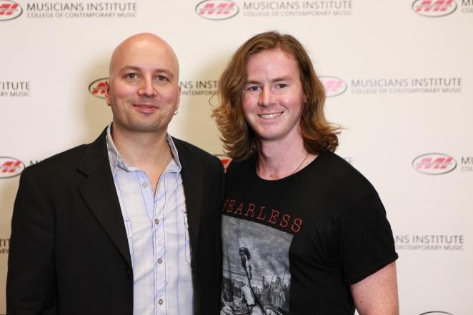 Stig Mathisen (Guitar Program Chair) with Nick Blankenship