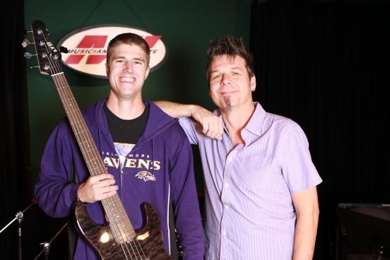 Shawn Paavola with Maurice Verloop (Bass Program Chair)