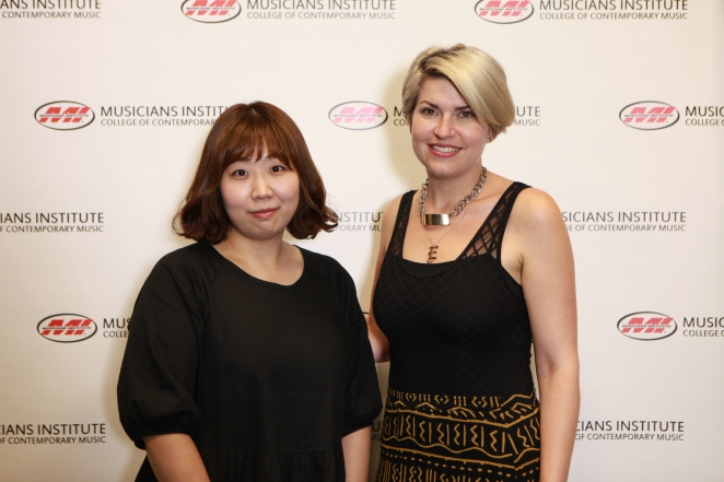 Shinae Hwang with Lisa Harriton (Keyboard Program Chair)