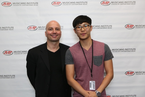 Guitar Program Chair Stig Mathisen with Joseph Yun