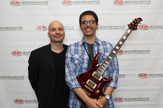Guitar Program Chair Stig Mathisen with Eduardo Pimentel