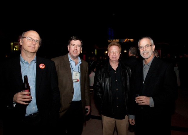 NewBay Media's Joe Perry, Joe Ferrick and John Pledger with Roland's Paul Youngblood: 27th TEC Awards at NAMM 2012