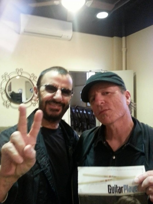 Backstage with Ringo in July 2014