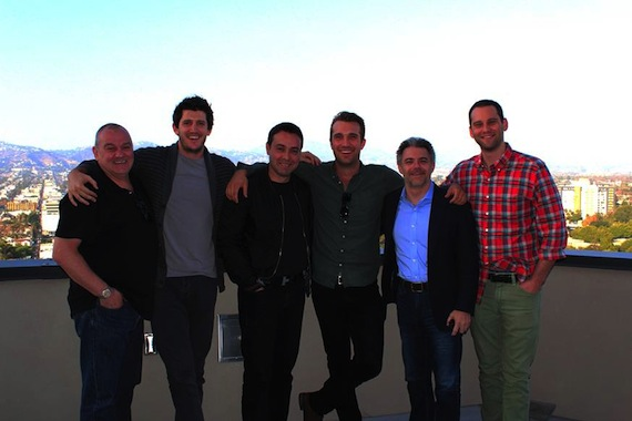 (L-R): Kenny MacPherson (Big Deal President), Damon Bunetta, (BMG Chrysalis) Zach Katz (Family Affair Productions), John Ryan (songwriter), Laurent Hubert (BMG, ASCAP), Casey Robison.