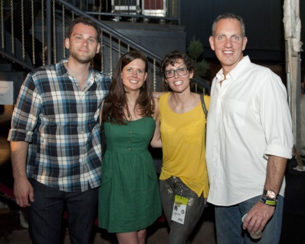 Casey Robison, Beth Laird (Creative Nation), friend, Mike O'Neill (BMI) at SXSW 2012