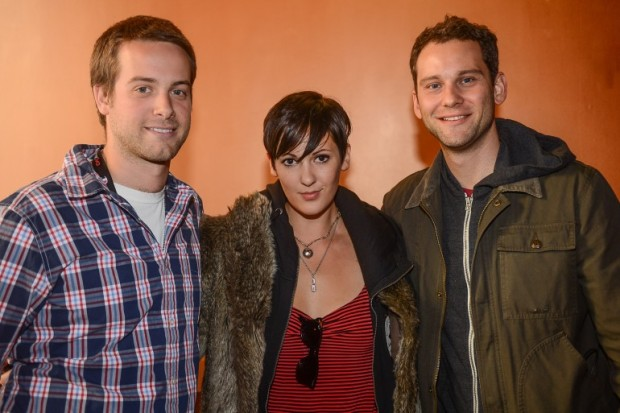 BMI's Jake Simon and Casey Robison w/ Beast Patrol front woman,VBley in 2012