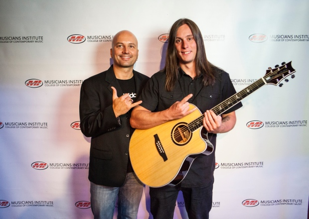 Stig Mathisen (Guitar Program Chair) with Christopher Eklund