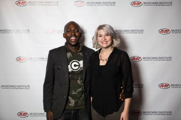 Calvin Winbush with Lisa Harriton (Independent Artist Program Chair)