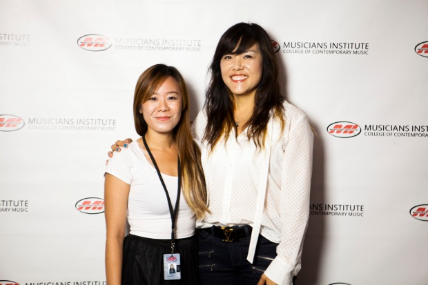 Renhui (Renny) Goh with Rachel Yoon (Bachelor's Program Dean)