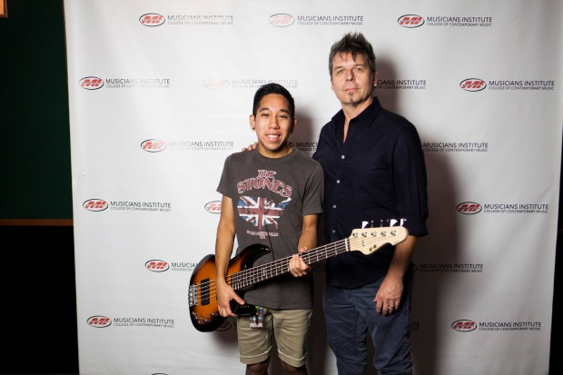 Victor Kusaka with Maurice Verloop (Bass Program Chair)