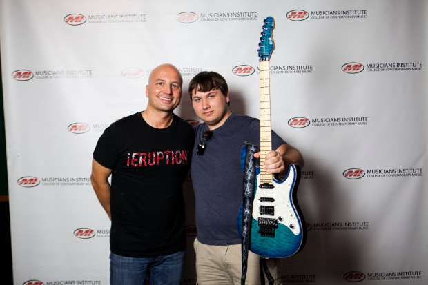 Stig Mathisen (Guitar Program Chair) with Devin Mysyk