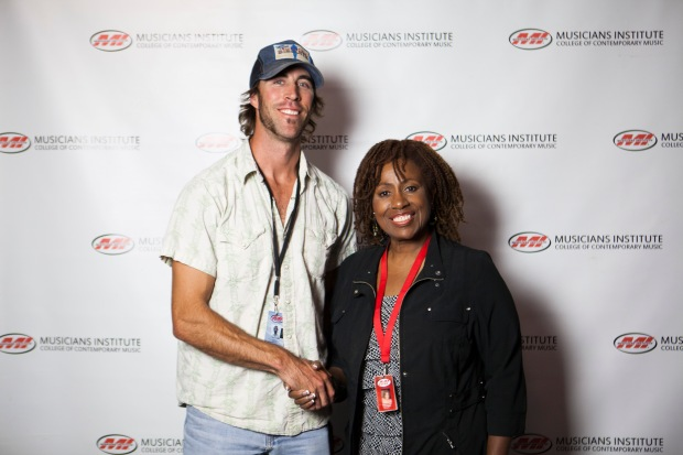 Jed Morrison with Debra Byrd (Vocal Program Chair)