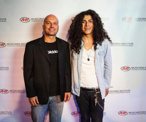 Stig Mathisen (Guitar Program Chair) with Luke Villegas