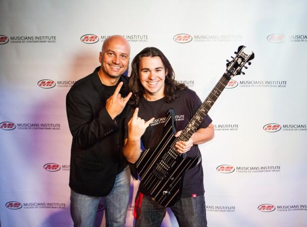 Stig Mathisen (Guitar Program Chair) with George Patmas