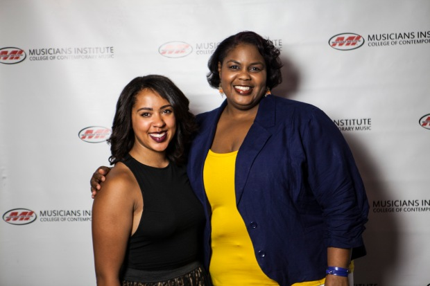 Gabrielle McClain, with Stacy Turner (Music Business Program Chair)