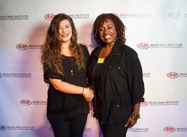 Monica Wickland with Vocal Program Chair, Debra Byrd