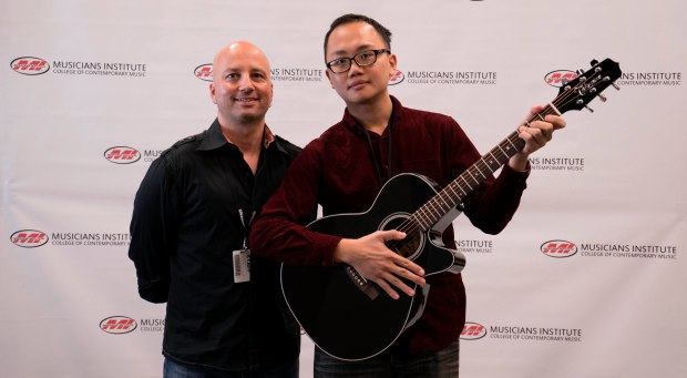 Guitar Program Chair Stig Mathisen with Yi Hsuan Huang