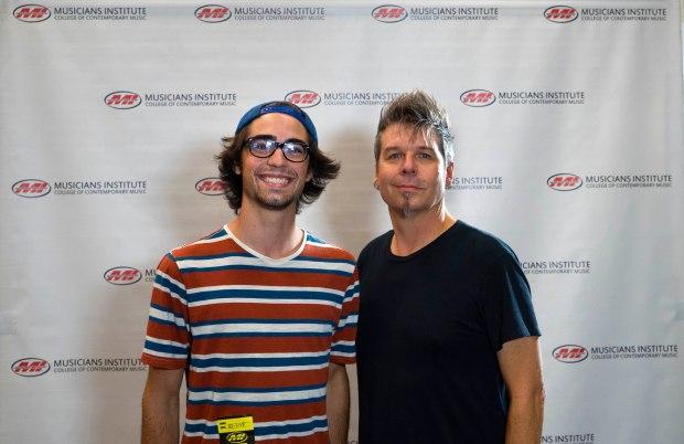 Jeremy Bauer (l.) with Bass Program Chair Maurice Verloop (rt.)