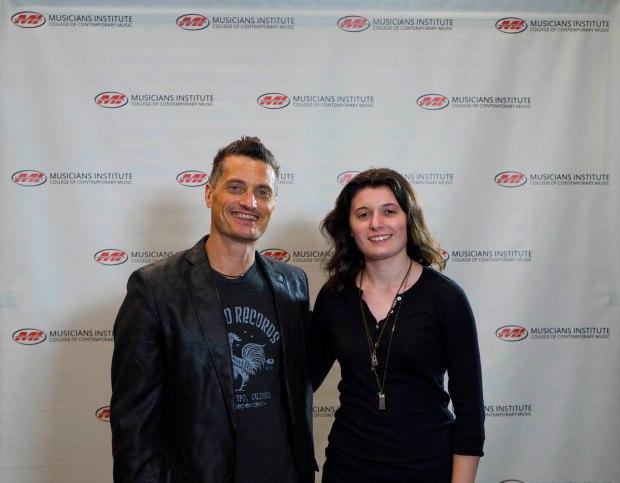 Drum Program Chair Stewart Jean with Marisa Testa