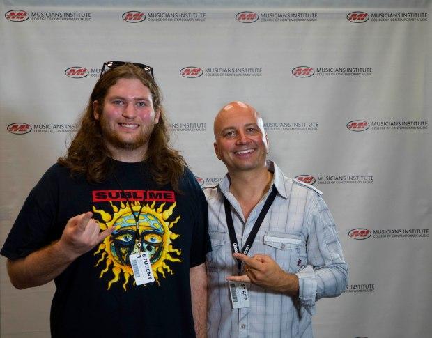 Matthew Kusnick (l.) with Guitar Program Chair Stig Mathisen (rt.)