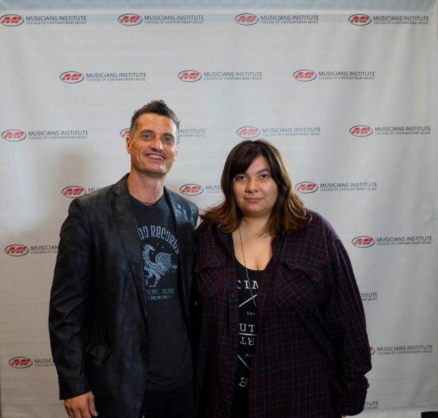 Marcella Dreith with Drum Program Chair Stewart Jean