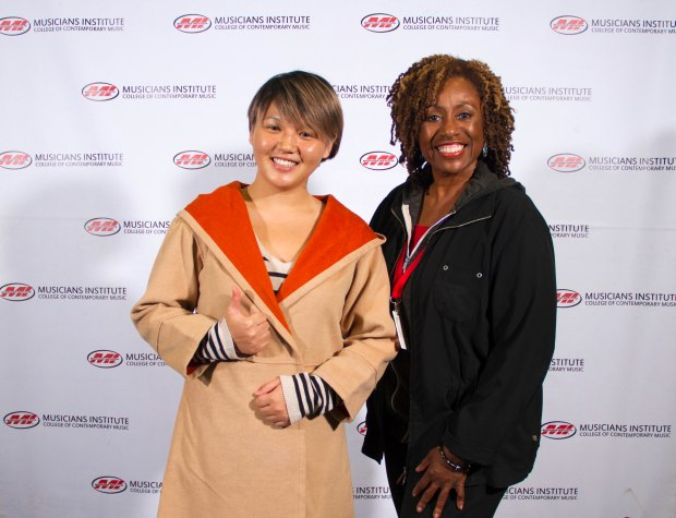 Xiong Shi Yue with Vocal Program Chair Debra Byrd