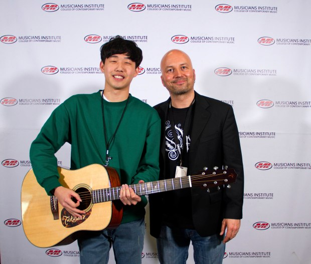 Minsoo Park with Guitar Program Chair Stig Mathisen