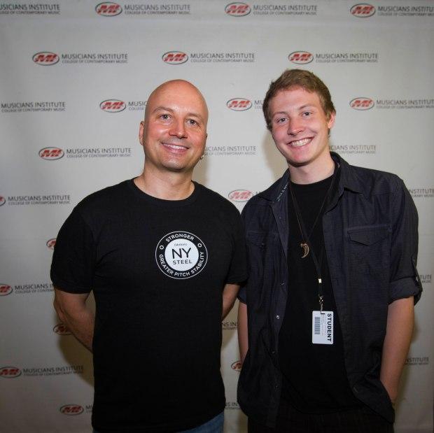 Guitar Program Director, Stig Mathisen(l.) with Brett Daniels(rt.)