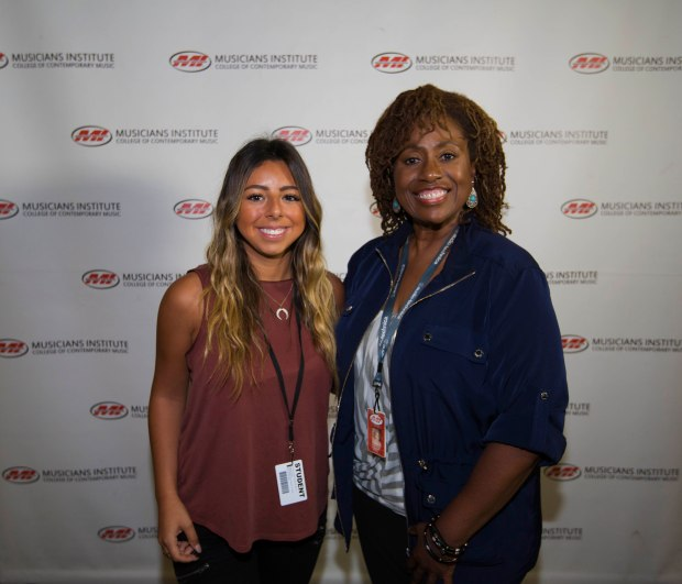 Emma Negrete (l.) with Vocal Program Chair, Debra Byrd