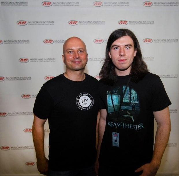 (l.) Stig Mathisen (Guitar Program Chair) withLandon Myres (rt.)