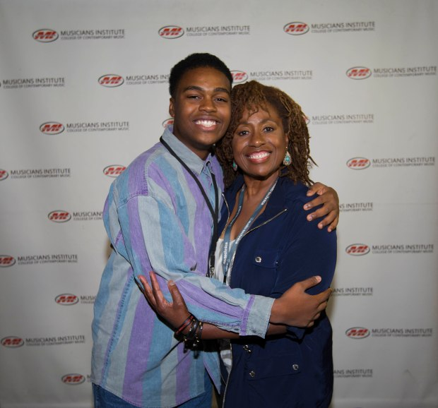 Michael Woodardwith Vocal Program Chair Debra Byrd