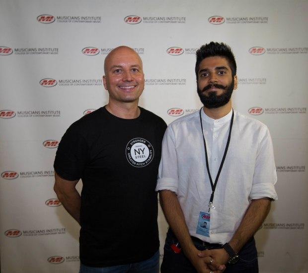 Guitar Program Chair Stig Mathisen (l.) with Shubham Chaudhary(rt.)
