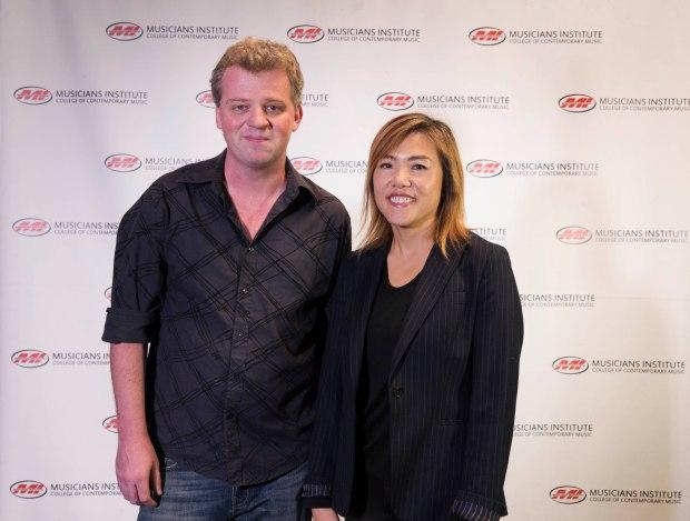 Ben Levin with Rachel Yoon, Dean of the Bachelor's Program